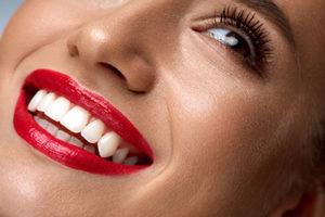a woman getting dental bonding in humble tx